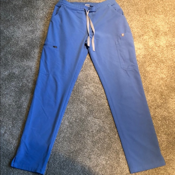 FIGS ceil blue yola scrub pant